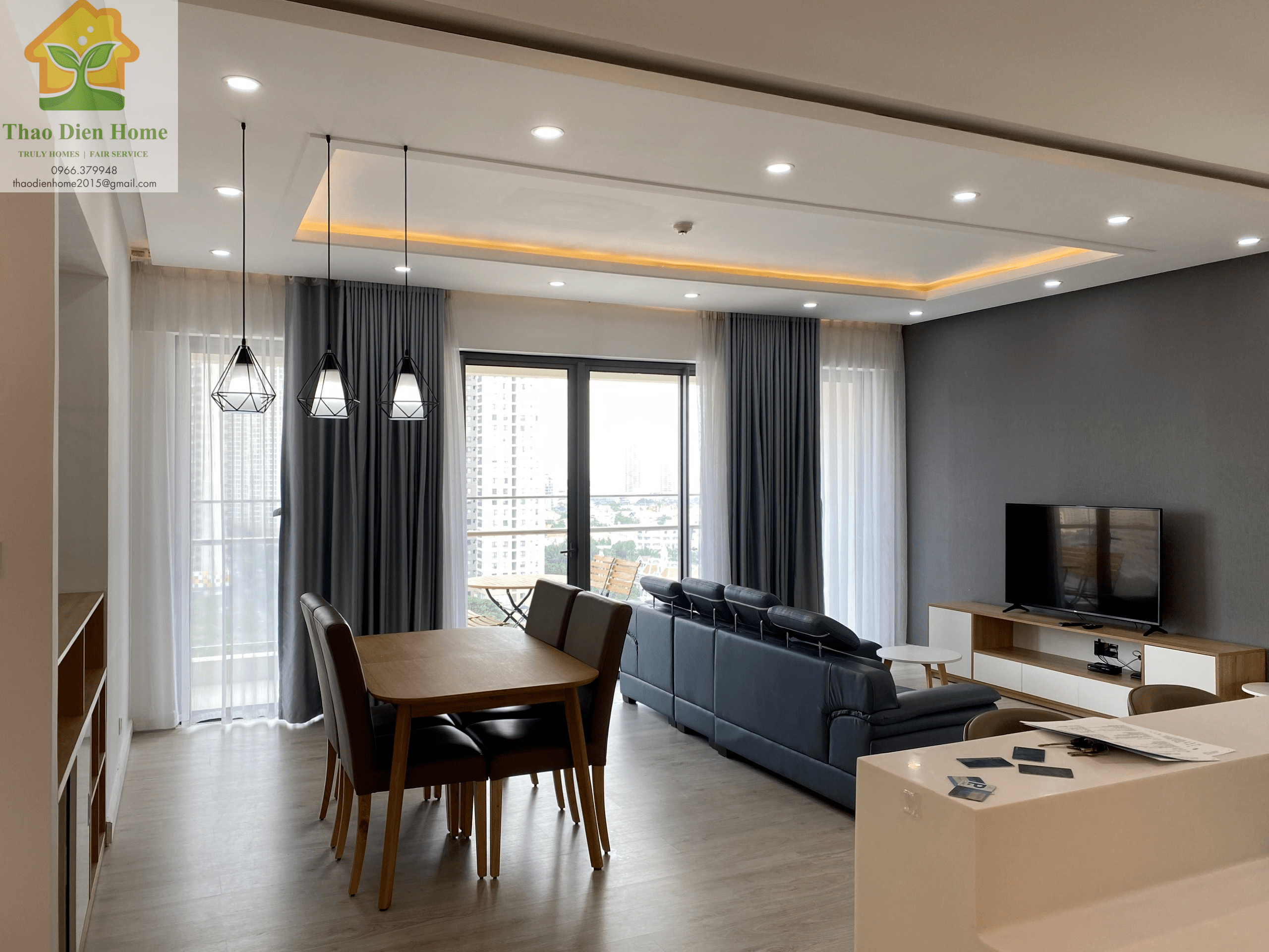 Gateway Thao Dien Apartment – 4 Bedrooms – Elegantly bring a comfortable and peaceful living space