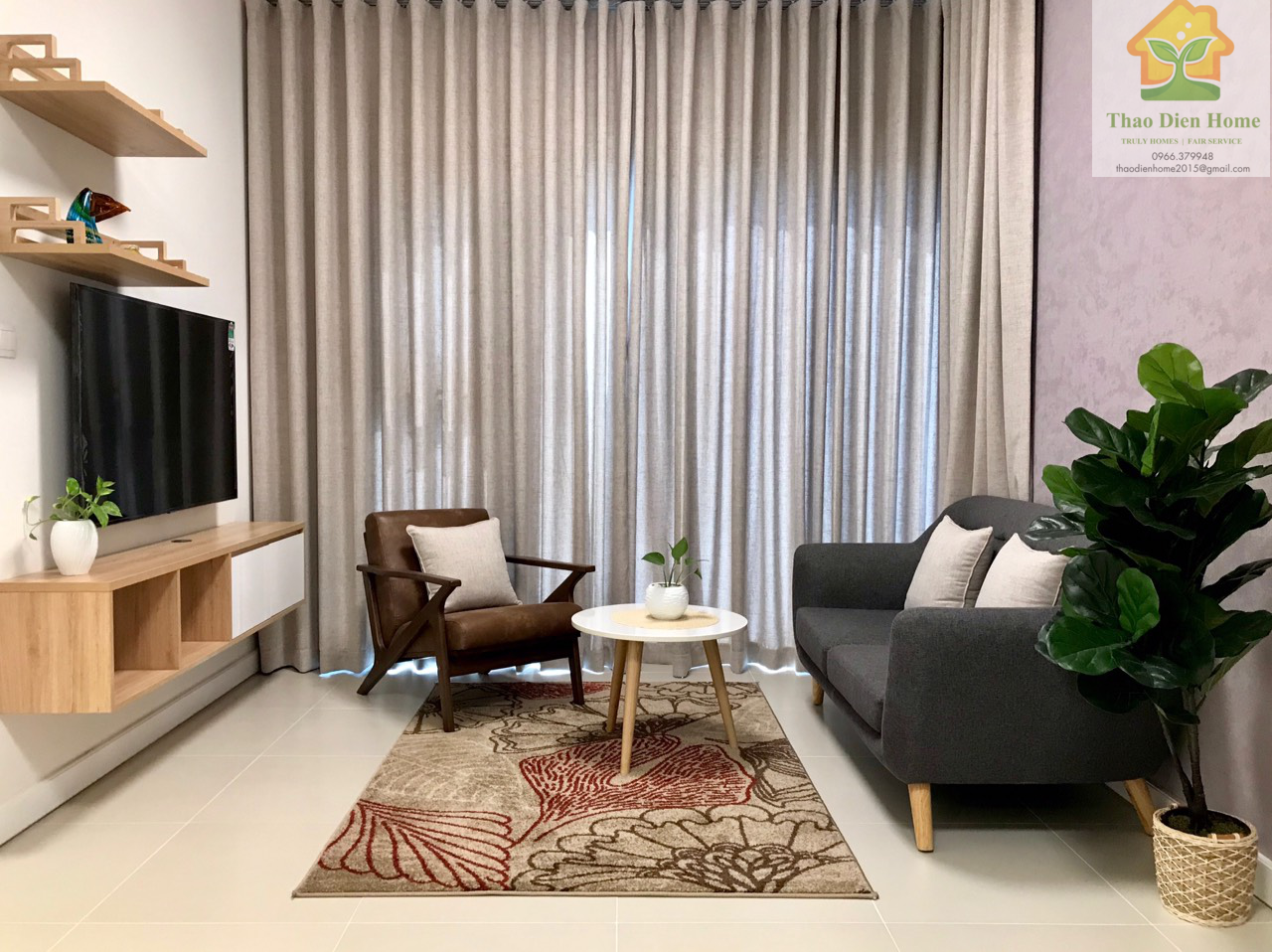 Gateway Thao Dien apartment – 1 Bedroom – Nice furniture, very quite and stunning view
