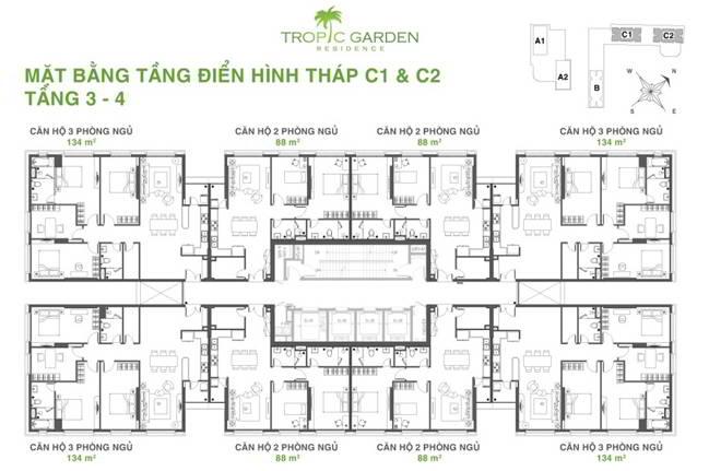 C1 C2 floor 3 4 - Tropic Garden