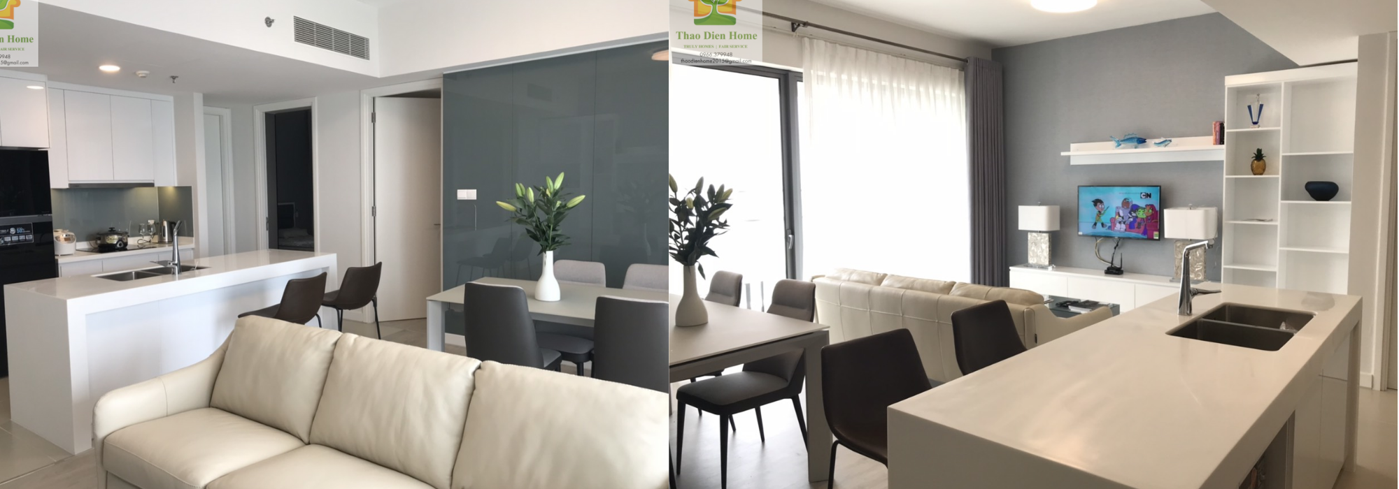 Gateway Thao Dien For Rent, 2 Bedrooms – Delicate and Convenient Apartment