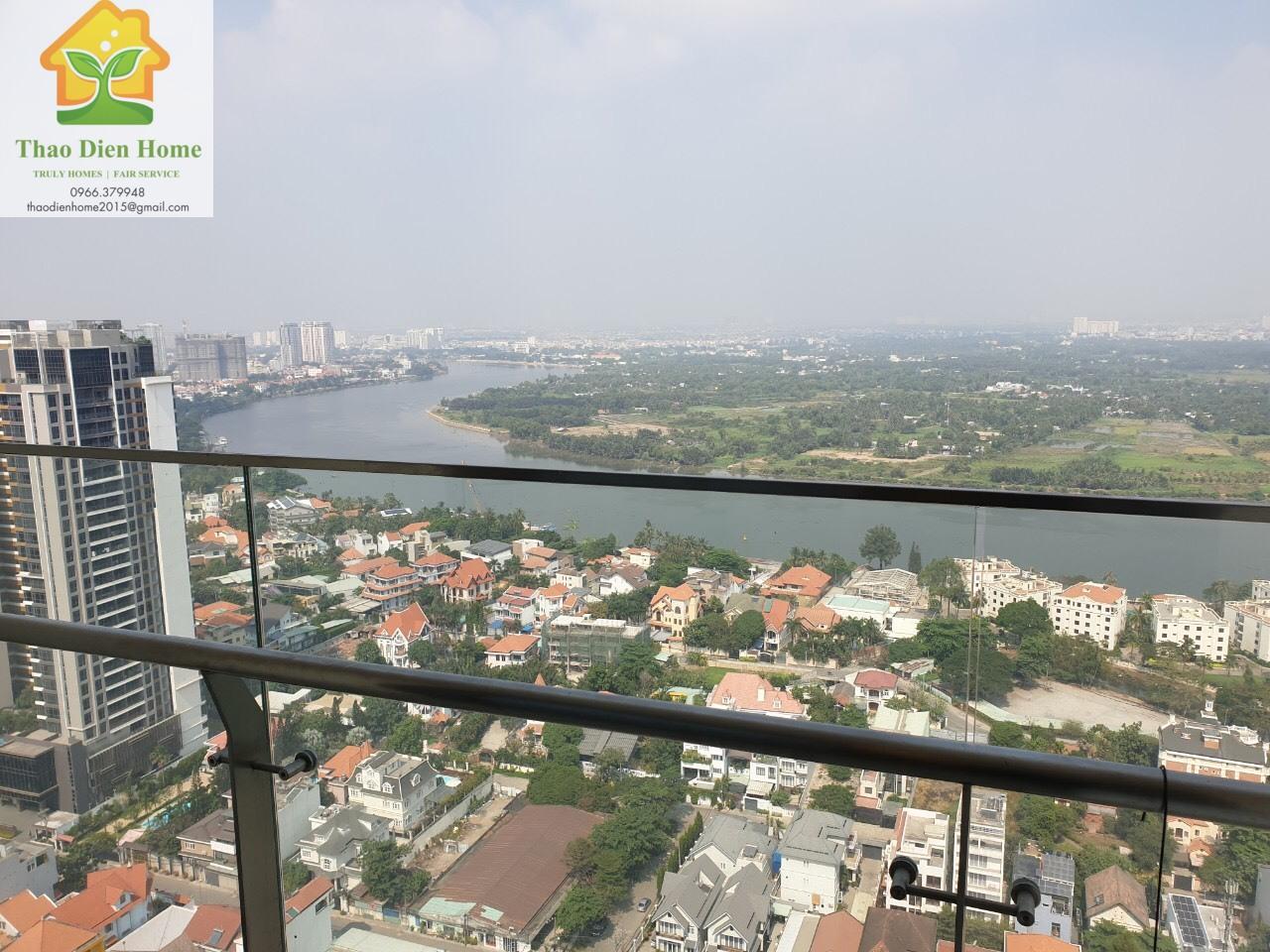 Cho Thuê Gateway Thảo Điền, View Sông Trực Diện, 2PN 99m2. Giá chỉ 30.5tr/tháng