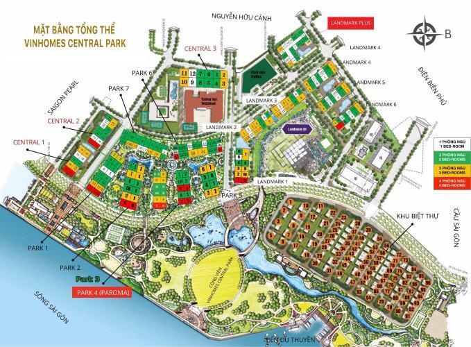 master plan 1 - Vinhomes Central Park