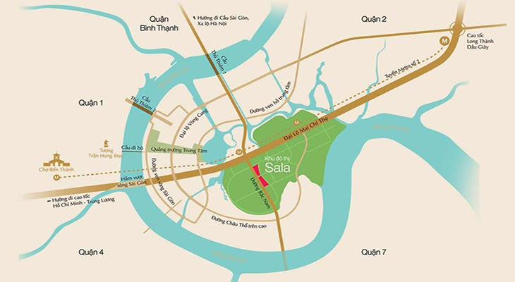 sala sarimi dai quang minh vi tri location map - Sala Sarimi