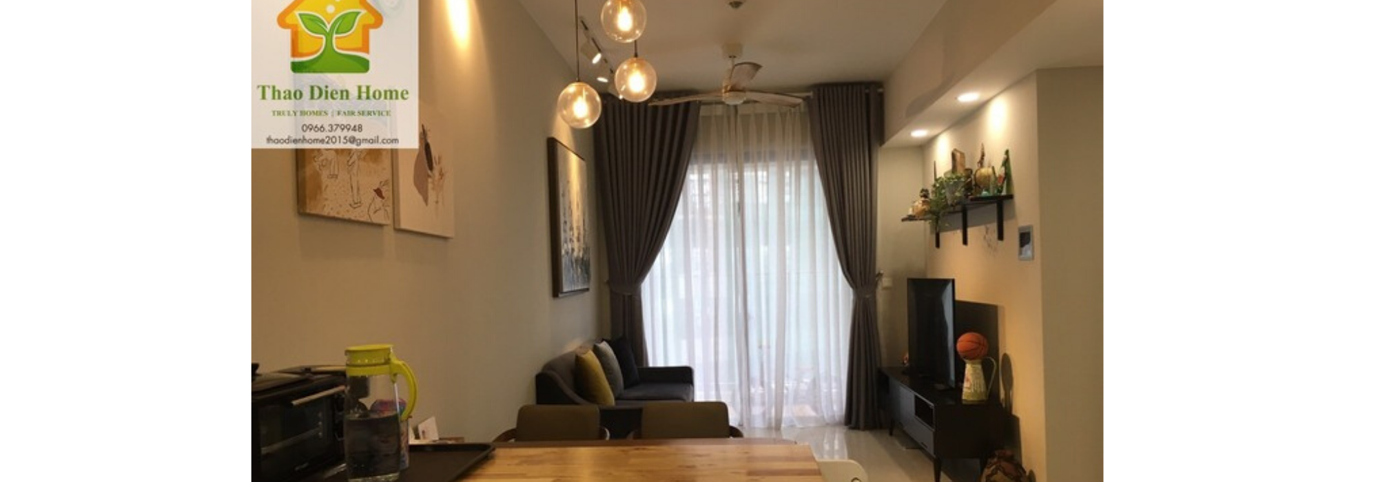 Masteri An Phu Feel like home with 2 brs apartment , cozy style and low floor